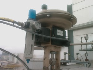 valve on top of plant
